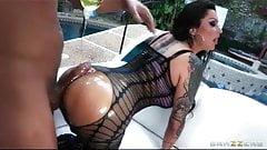 slut nikita big booty is oiled for anal deep through
