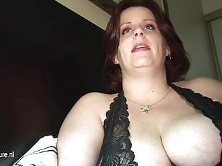 Mature bbw breast big hatc - Big breasted mom getting pee and cum