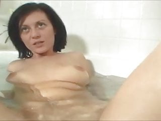 Xxx clips son in bath tub Creampie for brunette in bath tub
