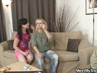 Granny licked moms pussy - Pussy licking from not his mom before riding not his dad