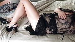 Sexy wife in heels