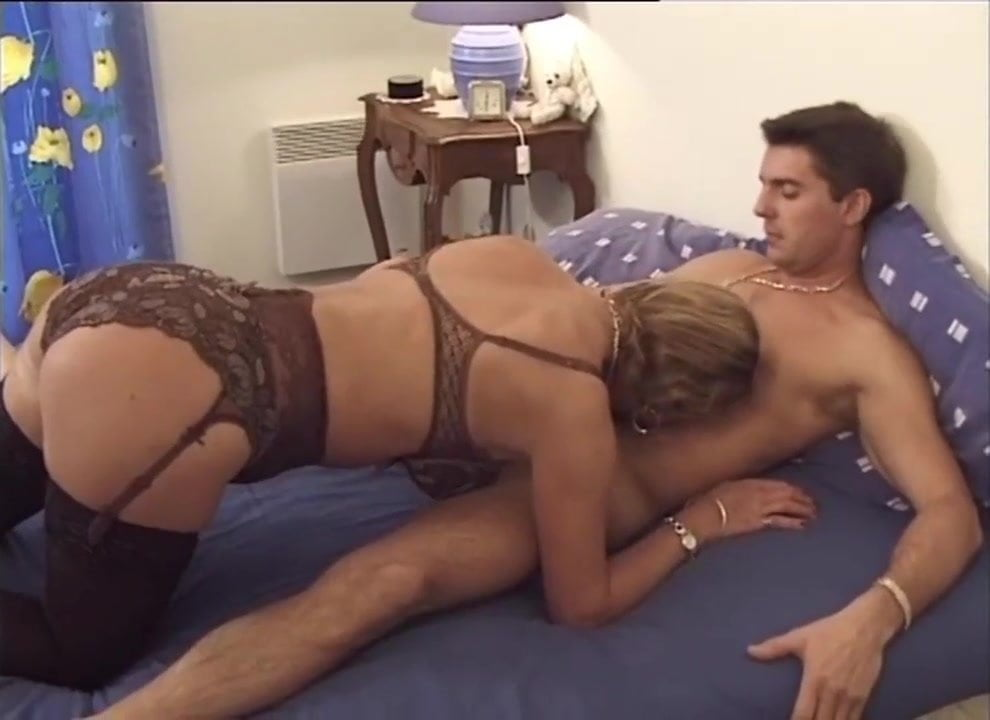Free download & watch french mature milf in stockings fucks a guy         porn movies