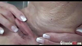 Granny Franziska masturbating
