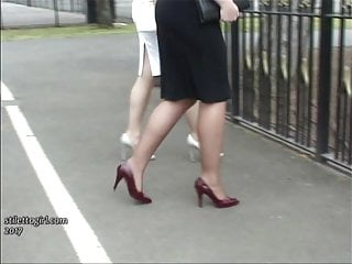 Modified ladies erotic - Erotic high heel ladies tease feet legs fetish in stilettos