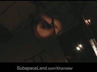 Cross dressing bondage videos Innocent slave suck dick while hanging on a cross