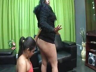 Femdom lick ass - Slave lesbian asslicking