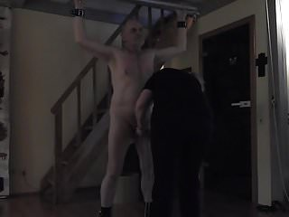 Beat my cock and balls Lady prepares my cock and balls to be whipped