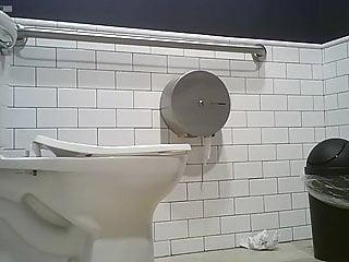 Pussy bending over pics Toilet voyeur girl bends over