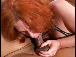 Black granny tits Redheaded white mature woman loves to suck and ride a big black cock