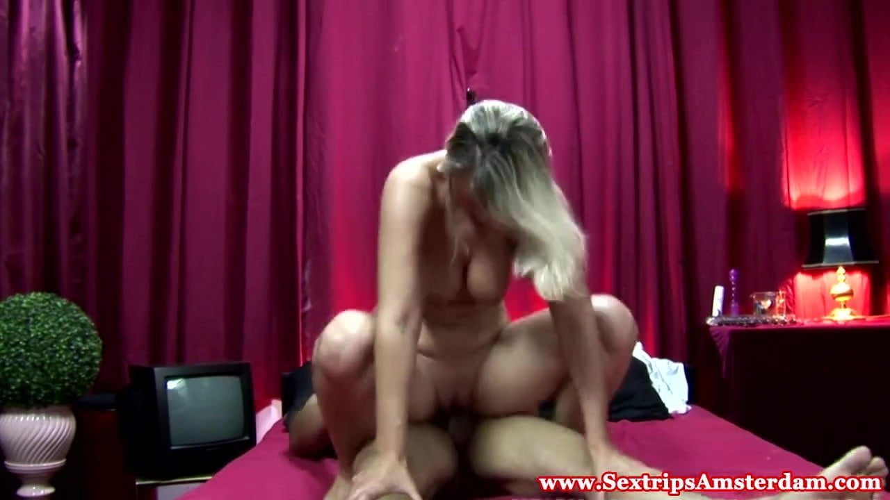 Dutch prostitute riding cock