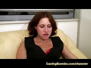 Her first orgasm audition Her first anal porn video casting