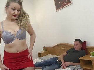 Mom seduces young son sex - Hungry mom seduce young son in bedroom