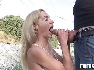 Fucking chica Chicas loca - spanish newbie aina smith gets fucked outdoors