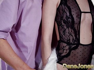 Shirley jones and sexy Dane jones slim blonde nymph in sexy lingerie milks studs