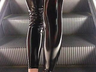Vinyl panty fetish Shiny latex pvc vinyl rubber pants leggings