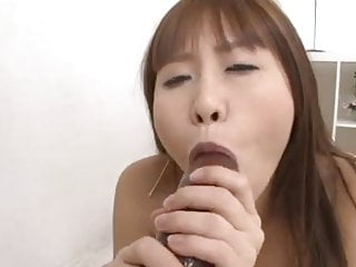 Cream for a bigger penis head Japanese rieko takes a bigger dildo