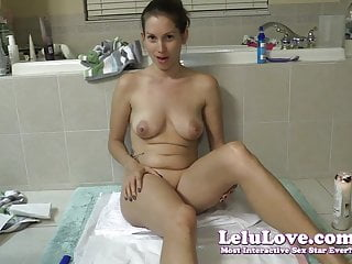 My first lesbian love - Lelu love-spanking and my first wax play