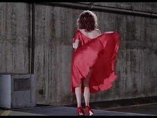 Woman flashing pussy Kelly lebrock woman in red side boob hairy pussy flash