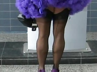 Heels nylons mature Mature flashing, high heels, ff nylons and upskirt