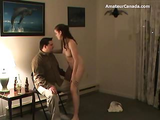 Guy dared to give blowjob College dance dare geek chubby guy blowjob facial