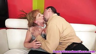 Busty cougar fucked and sprayed with cum