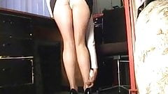 Secretary pantyhose tights upskirt