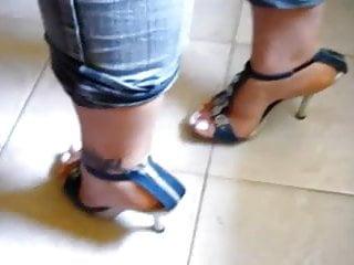 Platform shoes retro vintage - Foot fetish, stilettos, platform shoes, high heels 24