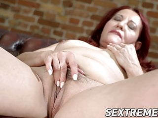 Horney granny rideing dick Granny red mary earns facial after riding hard dick