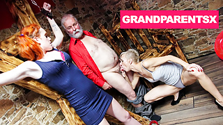 Grandparents Tie Up and Fuck 18 Year Old Au-Pair