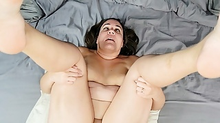 Thick amateur wife submits to ass fucking creampie