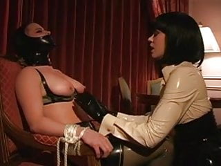 Intimate breast sucking Lesbian bdsm latex breast suck tit suck lezdom