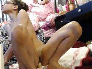 Chubby cheek girls Phat cheeks riding dildo
