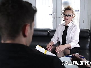 Claudia valentine office sex Claudia valentine fucked and creampied by her therapist