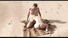 Voyeur on public beach. Hot young couple sex1