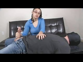 Wifey cum choking She chokes him as he cums