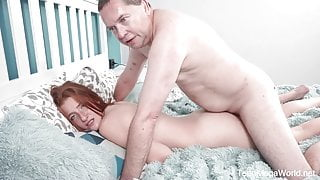 TeenMegaWorld - Old-n-Young - Old cock inside fresh pussy
