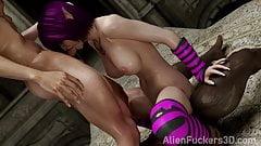 Elven Slut fucked by Monsters. Hentai 3D