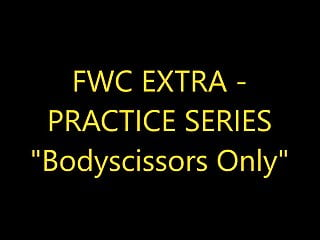 Female teen submission wrestling - Bodyscissor submissions only mixed wrestling