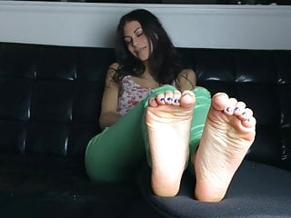 Perfect sexy woman Cute girl and her perfect sexy feet