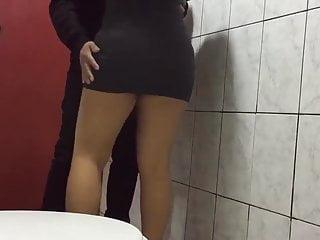 Sex toilet lid Public toilet rabbit sex