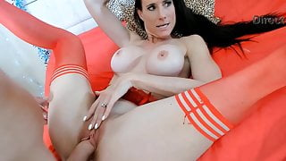 My close friends Sofie Marie and Spike perform live sex