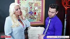 Blonde mom Alura Jenson gets large tits fucked