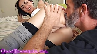 Roommate Fucked For Rent Gets Hairy Pussy Creampie
