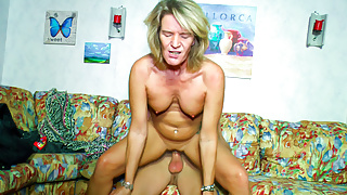 LETSDOEIT - Young Guy Fucking a Granny At Her Place