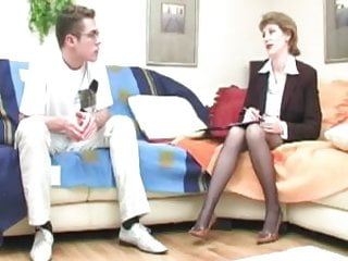Guys seduced to suck cock Guys seduced by milfs featuring young boy in glasses fucking