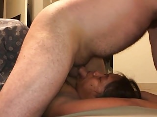 Asian facefucking - Facefuck for wife