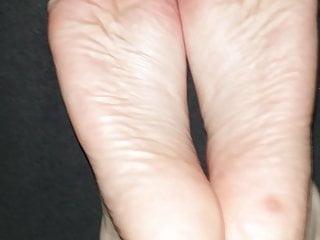 Fetish y-front Cum in 25 y. old soft feet, size 35