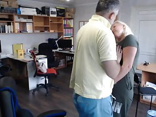 Virgin account Hidden camera. accountant tatiana and director 3