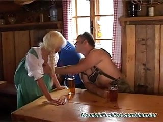 Vintage doll from well made doll company Blonde doll gets cum from sucking and stroking two boners