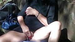 Masturbate in the woods